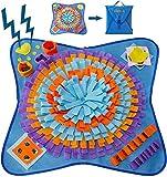 VECELA Schnüffelteppich Hunde,Lntelligenzspielzeug rutschfest Waschbar Faltbar Hundespielzeug Schnüffelspielzeug Riechen Trainieren Intelligenz Hundespielzeug Futtermatte