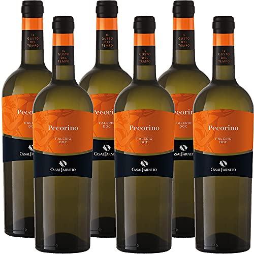 Vino Bianco Pecorino Falerio Doc | Casal Farneto | Marchigiano | 6 Bottiglie 75Cl | Idea Regalo