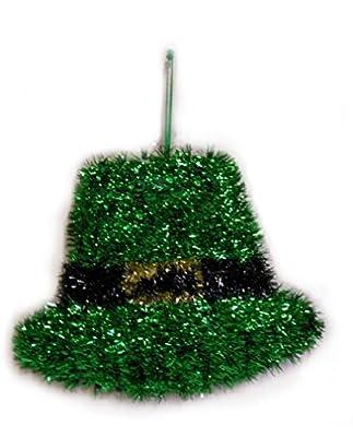 St Patricks Day Leprechaun Hat Deluxe Tinsel Hanging Decoration