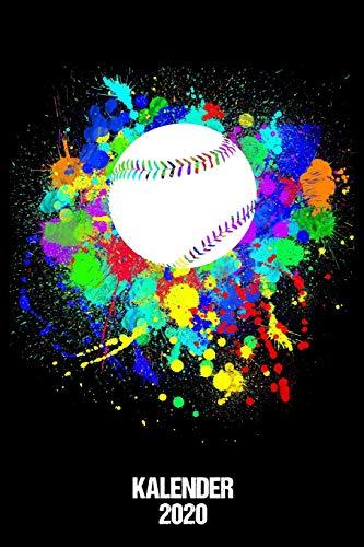Kalender 2020: Terminkalender Baseball Fan als lustiges Geschenk für Baseball Spieler Jahreskalender 2020 A5 1 Woche 2 Seiten / 6x9 Zoll 120 Seiten / ... Beruf Studium Schule und Familie