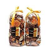 Qingbei Rina Gifts Orange Fresh Potpourri Bag Home Fragrance Perfume Sachet of Petal,Bowl and Vase Decorative...