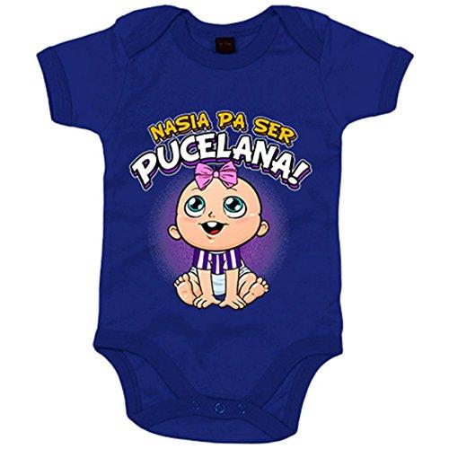 Body bebé nacida para ser Pucelana Valladolid fútbol - Azul Royal, 6-12 meses