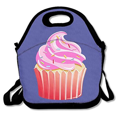 Printing Lunchbox mit Cupcake-Motiv, cremefarben