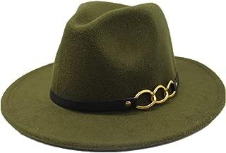 Sun Hat for men and women Fedora Men Women Hat Wool Leather Bandwidth Metal Chain Fedora Top Jazz Hat European American Hat