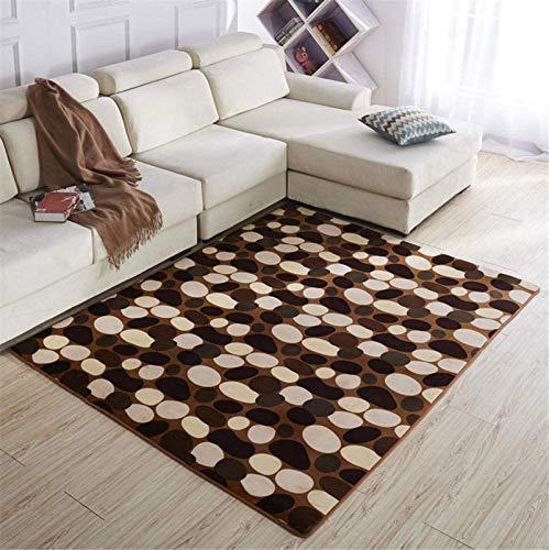 YNGH Teppiche Home Decoration Schlafzimmer Teppich Coral Fleece rutschfeste...