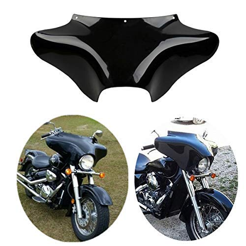 TCT-MT Front Outer Batwing Fairing Fit For Harley Touring Softail Dyna Road King 1994-2016 Fat Boy Yamaha V Star 650 1100 classic Suzuki VL800K1 Volusia C50/C50T ABS Black