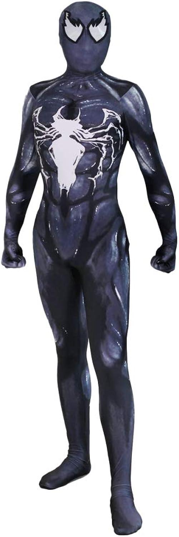 CSCLO Venom Symbiote Cosplay Kostüm Erwachsene Elastische Strumpfhose Halloween Kleid Party Party Film Performance Kostüme Cosplay Kostüme