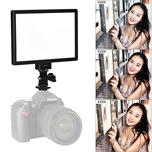 VILTROX L116T CRI95+ Super Slim Dimmable LED Light Panel,Bi-Color 3300K-5600K LED Video Light with LCD Control/Light Mount
