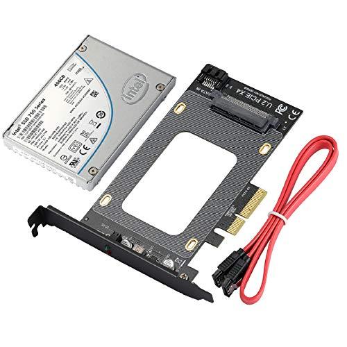 U.2 PCI-E-Erweiterungskarte, SFF-8639 zu SSD-Adapterkarte, PCI-E 3.0 X4-SATA-Adapter Unterstützt das NVME-Standardprotokoll / WIN7 / 8/10/32 / MAC/Linux