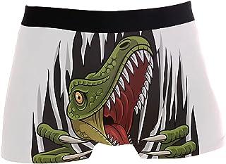 hengpai Cartoon Raptor Mascot Prints Men's Boxer Briefs Soft Underwear Covered Waistband Short Leg