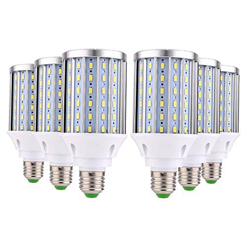 BRIGHTZ Bombilla de luz LED E27 LED bombilla del maíz E26 / E27 Medio Base 108LED 35 vatios (recambio equivalente 200W lámpara halógena) Enfriar luz del día la calle LED blanco y Luz Área de garaje al