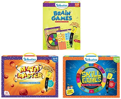 Skillmatics Educational Game : Math Master | Creative Fun Activities for Kids | Erasable & Skill Games | Fun Learning Games and Activities for Kids & Educational Game: Brain Games