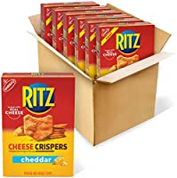 Ritz Crispers Cheddar Chips, Cheese, 7 Ounce ( 6 Pack)