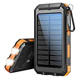 Solar Charger 20100mAh,Xiyihoo Portable Charger Solar Power Bank with Dual USB Output Waterproof External Battery Pack Compatible Most Smart Phones and Tablets