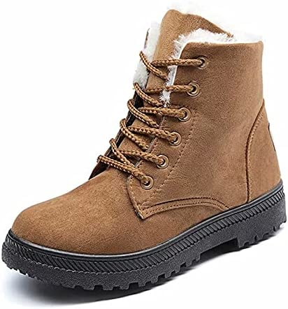 Womens Lace Up Warm Winter Boots