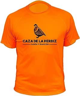 Pasi/ón y Tradici/ón Camiseta de Caza Caza de la Perdiz