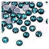 QQINGHAN 1440 unids Hot Fix Colorido Plancha en el Diamante de imitación Mejor Calidad 8 Big 8 Pequeño Hotfix Rhinestones Vestido de Novia (Color : 14, Size : SS16 1440PCS)