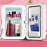 Mini Nevera, Maquillaje Nevera Con Espejo Led, Luz De Led Ajustable De Tipo Táctil Portátil, Para Maquillaje Y Cuidado La Piel, Casa Bar