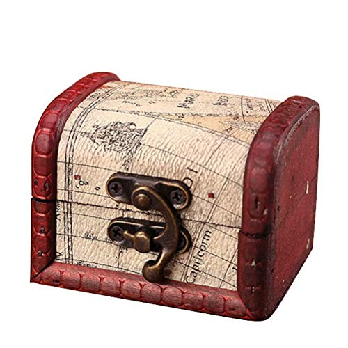 tallahassee Antique Wooden Embossed Flower Pattern Jewelry Box Storage...