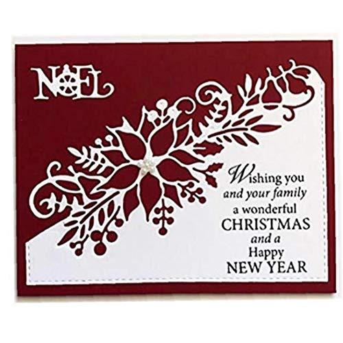 Metal Cutting Die 3d Stamp Flower Corner Christmas Poinsettia Craft Frame Paper Scrapbooking Card for Diy Scrapbooking Album