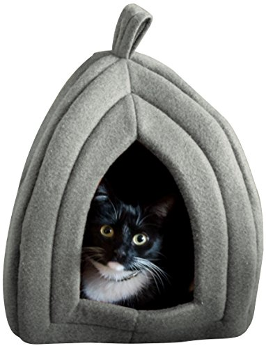 Cat Pet Bed, Igloo- Soft Indoor Enclosed Covered Tent/House for Cats,...