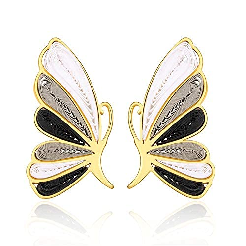 Pendientes de mariposa Pendientes para mujer - Azul marino, rosa, rojo, negro Dangle Morpho Mariposa Pendientes Pendientes para mujeres