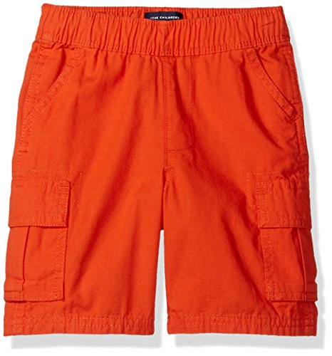 The Children's Place Boys Baby and Toddler Uniform Pull On Cargo Shorts, Flame, 5T
