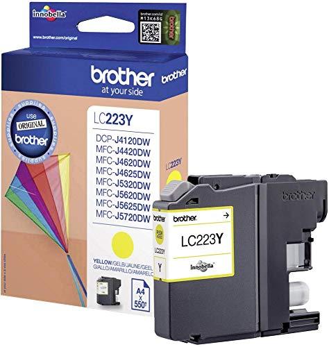 1x Original Brother Tintenpatrone LC 223 LC223 LC-223 - Yellow - für MFC J 480 DW - Leistung: ca. 550 Seiten bei 5{f9be0c14ba07a0d84b67a3a7dafc830aa8ef9fbe3f0ae46aa2f90db32acb5574} Seitenabdeckung
