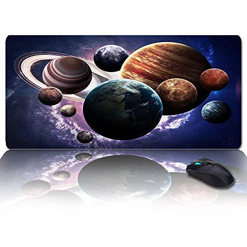 LargeGamingMousePadFullDeskPad-AstronomyOuterSpacePlanets,Non-SlipRubberBaseErgonomicXXLKeyboardMatforLaptop/Computer/DeskAccessories
