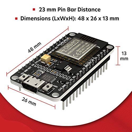 AZDelivery 3 x NodeMCU Amica Modul V2 ESP8266 ESP-12F WIFI Wifi Development Board mit CP2102 inklusive E-Book!
