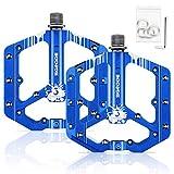 SGODDE Pedali Bici, Pedali Flat MTB, Pedali MTB in Alluminio Anti-Slittamento, 3 Cuscinetti...