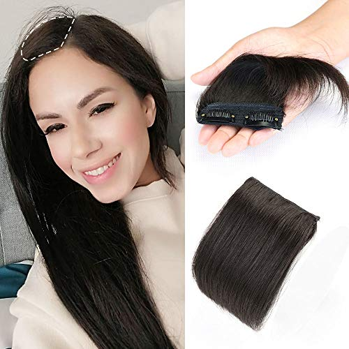 Mrs Hair Short Clip in Hairpieces 15 cm Natural Balck to Add Volume, Fullness and Thickness, Make the Hair Look More Puffy for Women Men