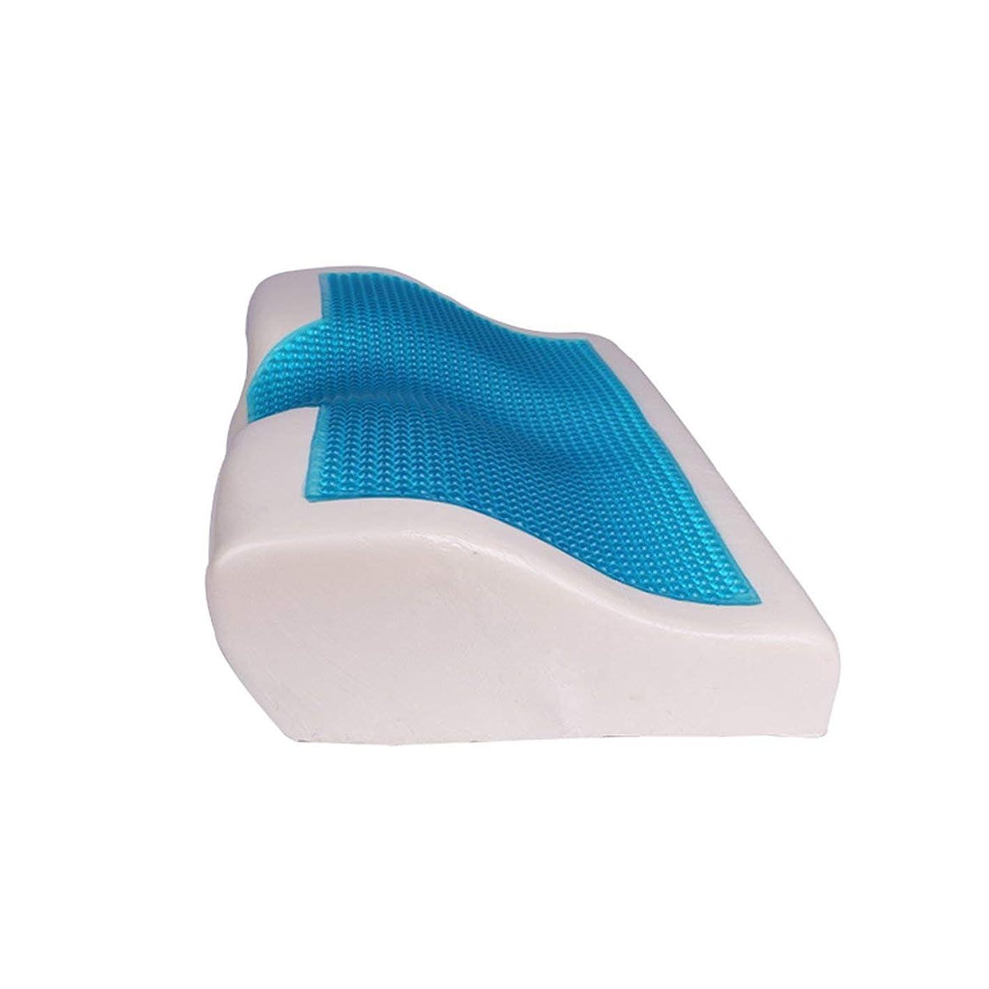 違法トロイの木馬変位低反発クールなジェル枕夏の冷たい眠りの青涼しい快適なジェルベッド枕クッション用寝具(白)