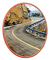 TYUIOO 凸の交通安全鏡の道路ターン安全ミラー、クリアミラーの屋外広角レンズターン車のブラインドスポットミラーの直径:30-120cm適切な安全性(色:A、サイズ:80cm) (Color : B, Size : 45CM)