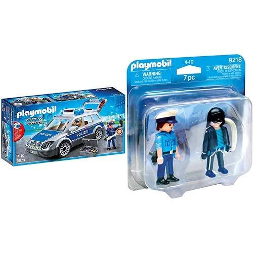 Playmobil 6873 - Polizei-Einsatzwagen & 9218 - Duo Pack Polizist und Langfinger