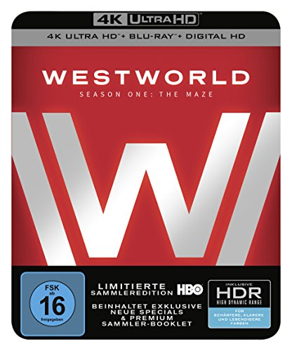 Westworld Staffel 1: Das Labyrinth als limitierte Sammleredition (4K Ultra HD + Blu-ray + Digital HD, Limited Edition) [Blu-ray]