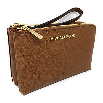 Michael Kors Jet Set Travel Large Double Gusset Top Zip Saffiano Leather Wristlet