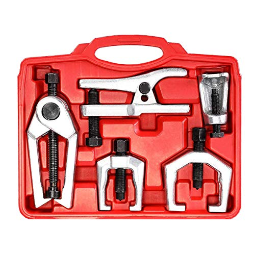 Prokomon 5pc Ball Joint Separator, Pitman Arm Puller, Tie Rod End Tool Set for Front End Service, Splitter Removal Kit PT1540