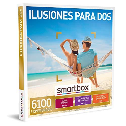 Smartbox - Caja Regalo Amor para Parejas - Ilusiones para Dos - Ideas Regalos Originales - 1 Experiencia de gastronomía, Bienestar o Aventura para 2 Personas