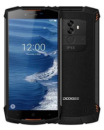 Telefono Movil Antigolpes Libres 4G, DOOGEE S55 Móviles y Smartphones Libres IP68 Android 8.0 Telefono Impermeable resistente, 4GB+64GB Dual SIM, 5500mAh 13.0+8.0MP/5MP, GPS Movil Todoterreno, Naranja