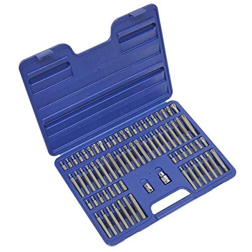 Sealey AK21974 - Trx-star/seguridad trx-star/hex/spline/ribe bit puesto 74 pc 3/8'y 1/2' cuadrados