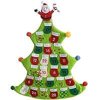 Con l' aiuto di questo riutilizzabile Calendario dell' Avvento a forma di albero di Natale può contare i giorni di Natale alternativa al cioccolato calendari dell' avvento e può essere riutilizzato anno dopo anno Utilizzare il candycane Stick per seg...