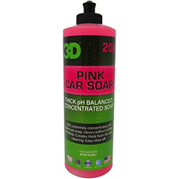 3D Pink Car Soap - 16 oz.   Car Wash & Cleaner   Made in USA   All Natural   No Harmful Chemicals