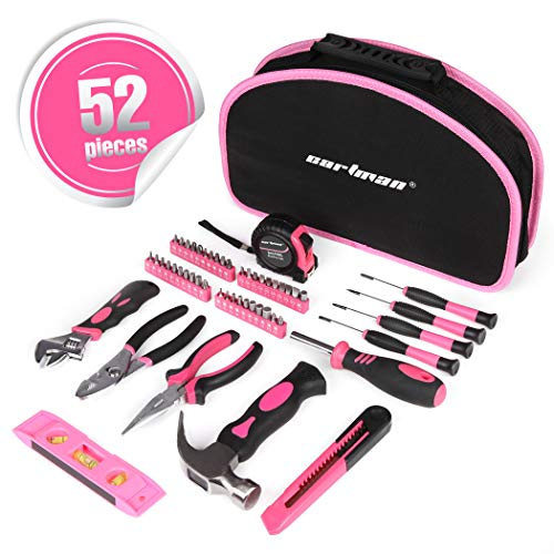 CARTMAN Pink 52-Piece Tool Set - Ladies Hand Tool Set