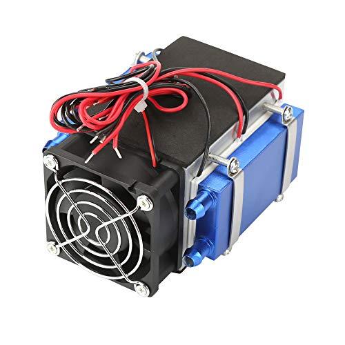 Sistema de refrigeración semiconductores, refrigeración semiconductor, sistema de refrigeración DIY 4/6 chip 12 V para el hogar (4 núcleos)