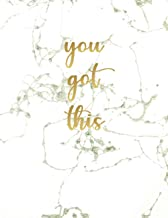 You Got This: Ruled Pages Notebook Journals For Women, Girl, Rose Gold Marble Motivational Journal, 8.5 x 11 in 120 Pages
