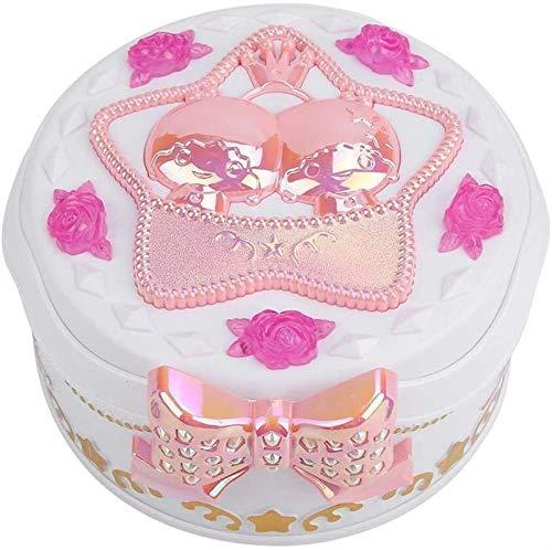 dwkkong Caja de joyería Musical, Caja de música de plástico Redondo Caja de Almacenamiento de Joyas de joyería bailerina Bailando Princesa Caja de música Mejor Regalo para niña (Color : White)