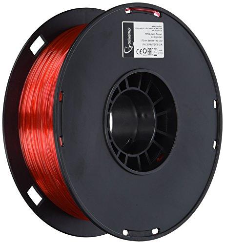 Gembird 3DP-PETG1.75-01-R PLA Filamento para impresora 3D, 1,75 mm (PETG), Rojo