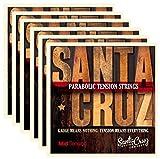 Santa Cruz Parabolic Tension Acoustic Guitar Strings Mid Tension (6 Pack)