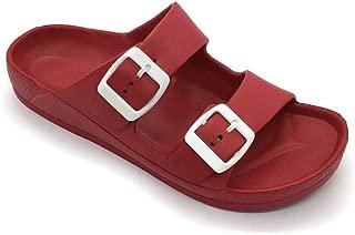 red flat sandal